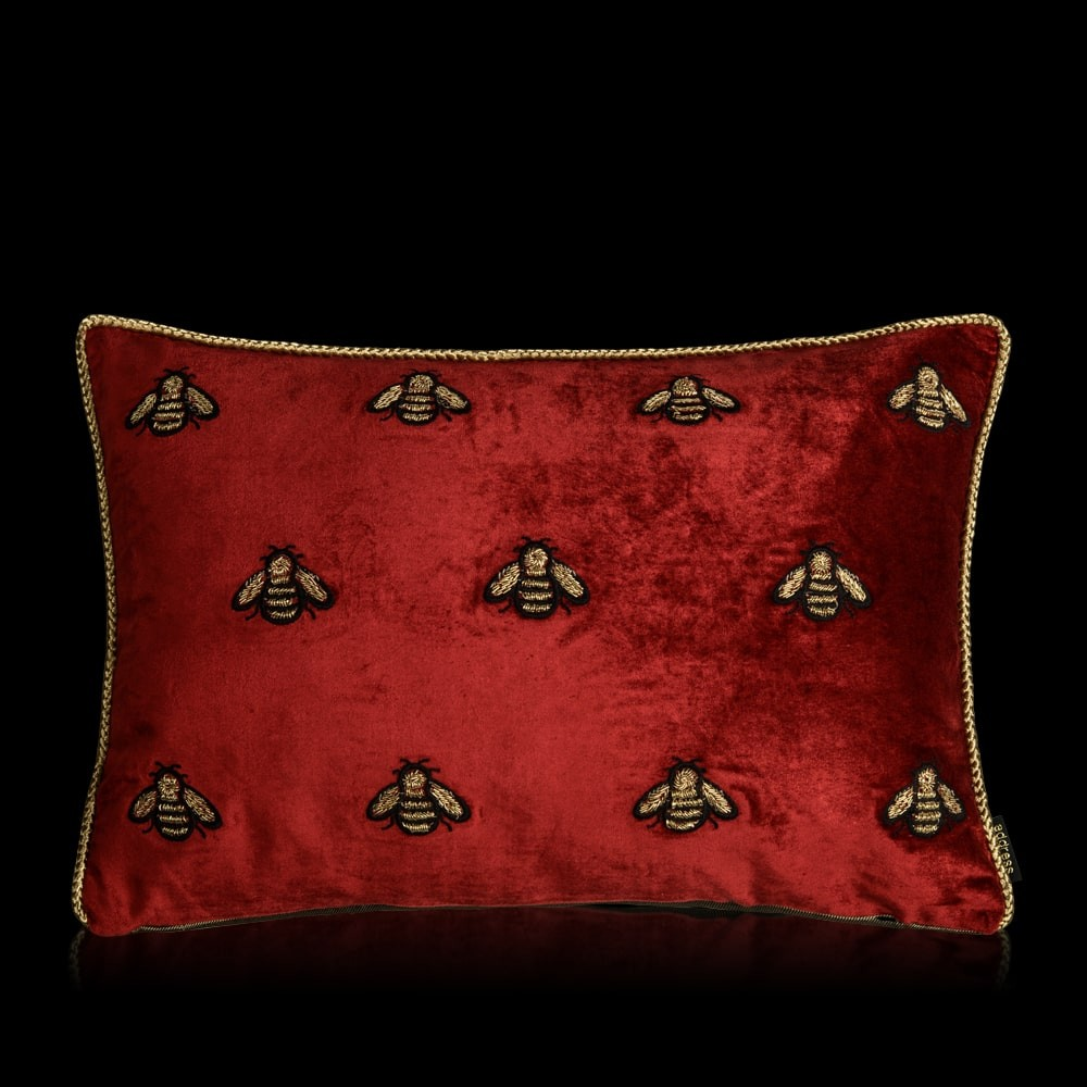 Abielle Red Velvet Cushion Cover