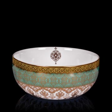 Mersin Blue & White Gold-Lined Porcelain Small Bowl