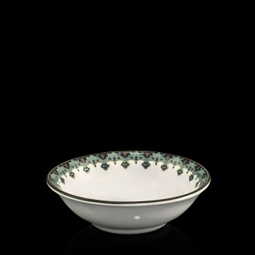 Antalya Teal & Gold Porcelain Portion Bowl
