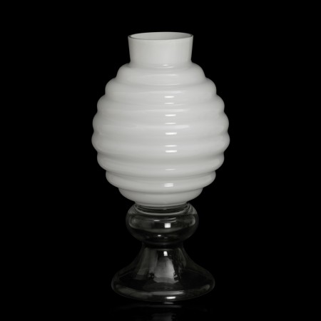 Orleans White Glass Vase