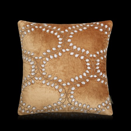 Sinuo Rust Velvet Cushion Cover