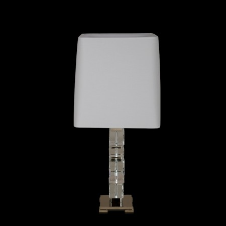 Pasos Crystal & Off-White Table Lamp