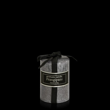 Brushed Silver Candle Small
