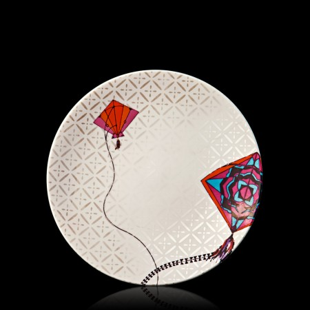 kathputli fuchsia & orange quarter plate