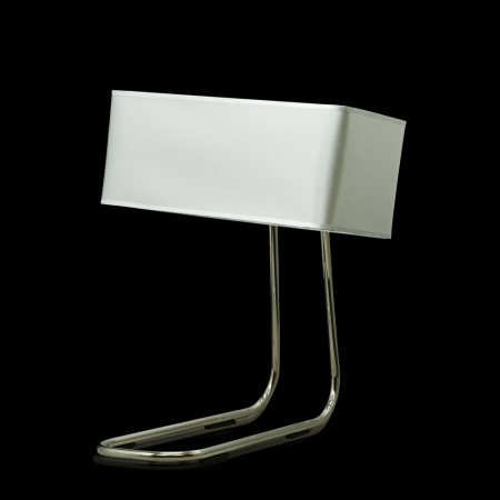 LED Table Lamp Helsinki White & Silver Table Metal