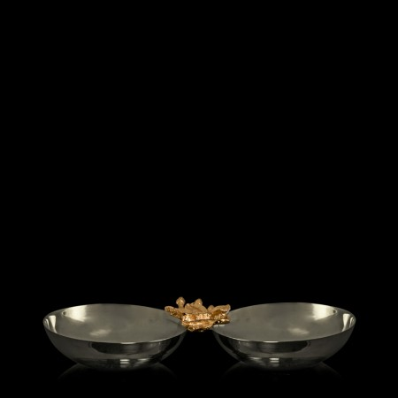 Apple Blossom Stainless Steel Nut Bowl